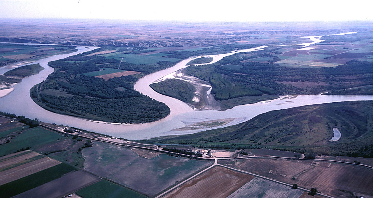 Confluence of the Yellowstone and Missouri Rivers